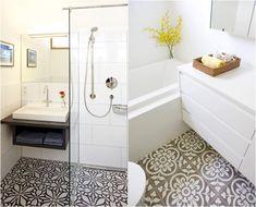 petite-salle-bains-agrandir-carreaux-sol-motifs-filigrane-douche-italienne-baignoire