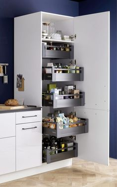 Funky Home Decor You should keep ., 56 Funky Home Decor You should keep ., 44 Clever Kitchen Storage Ideas and Trends for 2019 33 gorgeous kitchen design ideas 13 Kitchen Pantry Design, Diy Kitchen Storage, Interior Design Kitchen, Kitchen Organization, Bathroom Storage, Organization Ideas, Kitchen Cleaning, Storage Ideas, Kitchen Tips
