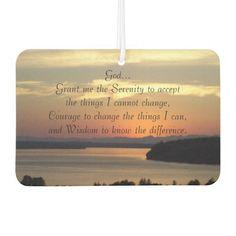 Serenity Prayer Seascape Sunset Air Freshener