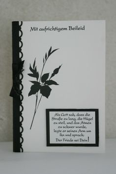 """Mourning card (with parchment insert) (stamp from """"Fabulous Florets"""") - candles Church Events, Sympathy Cards, Stamping Up, Diy Cards, Quilling, Bullet Journal, Scrapbook, Candles, Lettering"""