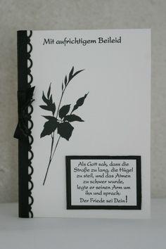 "Trauerkarte (mit Pergament-Einleger) C6 (Stempel aus ""Fabulous Florets"")"