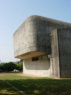 Brutalism: Church of Sainte-Bernadette du Banlay, Nevers, France (Architecture Principe - Claude Parent with Paul Virilio, Commercial Architecture, Interior Architecture, Classic Architecture, Deconstructivism, Streamline Moderne, Art Deco Home, Built Environment, Modern Exterior, Brutalist