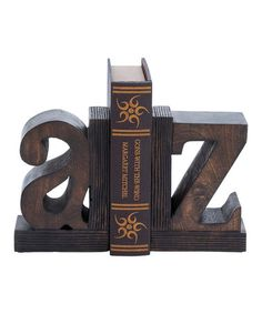 Love this Lowercase A & Z Bookends on #zulily! #zulilyfinds