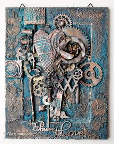 LikeArtStudio by Ola Khomenok: Mixed Media altered frame. The Power of Love.