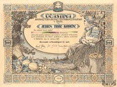 A2035 Muzeum cennych papiru Slovenská velkonákupná úč. spol. v Trnave 1919