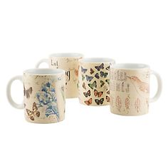Set 4 Mugs Botanic