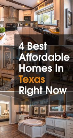 See the best looking, most affordable homes without leaving home - check out these beautiful new homes with gorgeous design features and prices that will work with your budget/! available in Texas, Oklahoma, Louisiana and New Mexico Texas Homes, New Homes, Palm Harbor Homes, Airstream Living, Austin Real Estate, Kitchen Floor Plans, New Home Designs, Modular Homes, Home Decor Styles