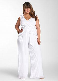 d8f1e796eb7 Ashley Stewart  Pleated Pant Jumpsuit Plus Size Jumpsuit