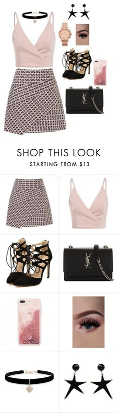 Sem título #10 by nildebezerra on Polyvore featuring moda, Yves Saint Laurent, FOSSIL and Betsey Johnson