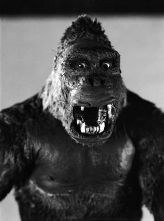 One of John Cerisoli's models of the giant ape, hirsute star of the classic monster movie