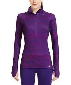 Another great find on #zulily! Purple Rain Cozy Printed Half-Zip Pullover #zulilyfinds