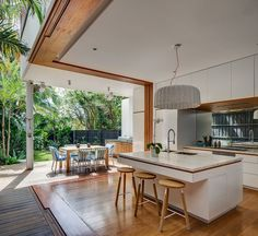 Whole corner opens up to garden. Awesome kitchen. All top end fittings