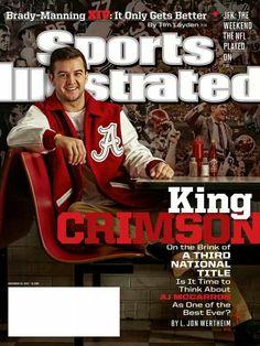 Sports Illustrated Cover - AJ McCarron - very classy guy! I miss him already!