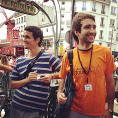 Victor shares his picture right before the launch of the Montmartre tour in Spanish with Rafa. www.culturefishtours.com