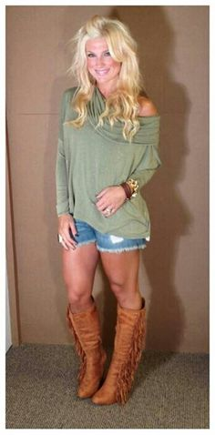 ok, the shirt--eh. the shorts--YES! the boots--GOTTA HAVE!!!!! OBSESSED!!!!