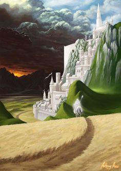 Minas Tirith by AnthonyAvon on DeviantArt