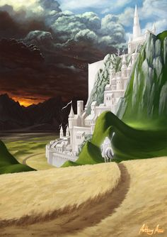 Minas Tirith by AnthonyAvon on DeviantArt
