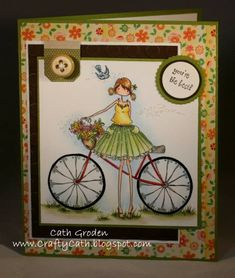 <3 Lovely Cathabella uploaded this pretty card featuring Uptown Girl Flora to the @Splitcoaststampers gallery.  Loving the subtle sparkle and Cath's beautiful colouring.