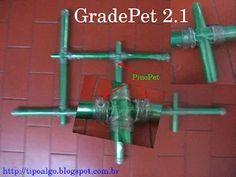 Foto: GradePet versão 2.1 - O canudo que atravessa o furo e une as barras é de…