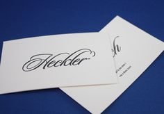 Letterpress printed, embossed and foil stamped business cards