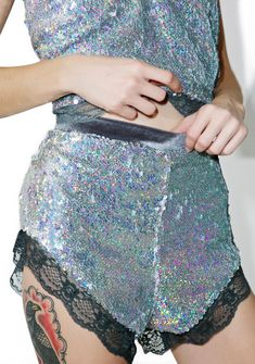 Sweet Nothings Sequin Shorts are gunna whisper all the right things to ya, babe. These supa cute short shorts feature a plush grey velvet construction, iridescent sequins across the front panel, high waist, and delicate lace trim.