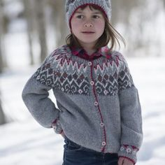 Tricoter un pull islandais pour fillette / Icelandic sweater for a girl