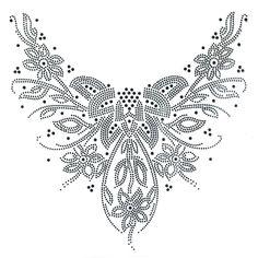 Rhinestone Hot Fix Motif Crystal Fashion Design Dress Neckline Art Deco Black | eBay