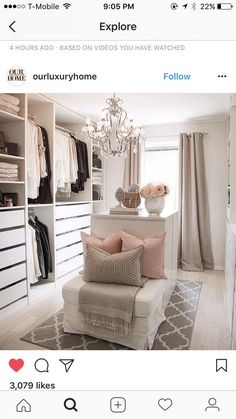 Kleiderschrank ideen Ideas for wardrobes # walk-in # wardrobe Room Design, Interior, Home, Bedroom Wardrobe, Master Bedroom Closet, Glam Room, Closet Designs, Closet Decor, Dressing Room Design