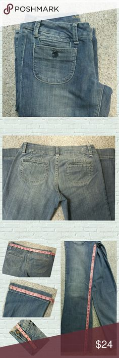 American Eagle Boho Style Jeans 💎Excellent used condition. These awesome Boho style American Eagle bell bottom jeans are made of 99% cotton/1% spandex which makes theses jeans so comfortable 😊 Please see pics for measurements - Size 4R length approximately 33 inches Comes from a smoke free home. 💖Any reasonable offer will be considered 💖 American Eagle Outfitters Jeans Flare & Wide Leg