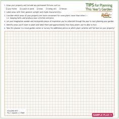 Garden Planning Printable #Gardening #GardenPlanning
