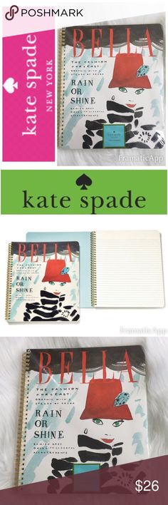 "🆕♠️Kate Spade New York ""BELLA"" Spiral Notebook A Fashion magazine illustration adds trend appeal to this Bella large spiral-bound notebook for whatever your work day, school day or day off has in store. From ♠️Kate Spade New York, it features 160 lined pages and an interior pocket // Brand New with Tag🚭SMOKE FREE🚭BUNDLE & SAVE🛍🛍 kate spade Other"