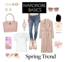 """Contest: Wardrobe Basics - Spring Trend"" by makesmefashionable on Polyvore featuring ANS, Emporio Armani, Bare Escentuals, Calvin Klein Jeans, RED Valentino, MANGO, Semilla, Casetify, Kenneth Jay Lane and Too Faced Cosmetics"