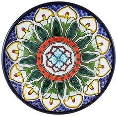 Tomas Huerta TalaveraPlate - Pattern 70 ♥️♣️♣️Talavera Mexican Pottery : More At FOSTERGINGER @ Pinterest 🔷🔹♣️