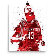 James Harden Houston Rockets Scream Poster