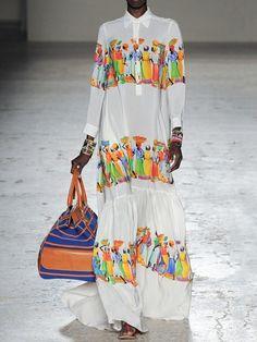 Stella Jean Spring/Summer 2015 Trunkshow Look 27 on Moda Operandi Colorful Fashion, Love Fashion, Womens Fashion, African Inspired Fashion, African Fashion, Boho Outfits, Fashion Outfits, Maxi Robes, Stella Jean