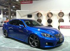 blue lexus Is-f on vossen wheels