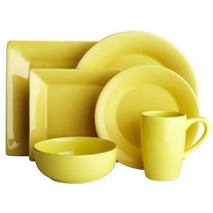 Essential Dinnerware - Butter, needs the Cobalt Blue to go with it.   Nice......