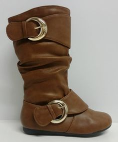 Look what I found on #zulily! Tan Double Buckle Klein Slouch Boot by Step Up Shoes #zulilyfinds