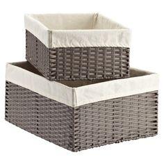 Storage baskets for master closet - Montauk Rectangular Bins Baby Closet Organization, Closet Storage, Storage Bins, Storage Organization, Storage Containers, Nursery Organisation, Organizing Tools, Bench Storage, Pantry Storage