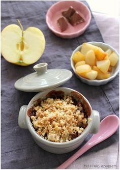 crumble au toblerone pomme poire