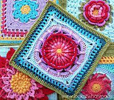 Prince Protea Crochet Granny Square