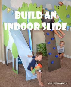 She has a climbing wall and slide associated with a treehouse. Could maybe do something like this in the cubby of the upstairs bedroom.