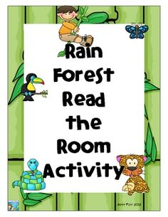 Do you need a cute read the room handout to go with your jungle or rain forest theme