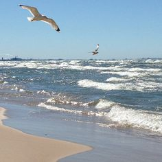 Lake Michigan Out At Portage Beach In Indiana East Chicago