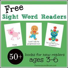 Free sight word readers from the measured mom 590x590 Free All About Me Emergent Readers (sight word me)