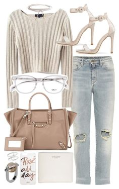 """""""Untitled #20374"""" by florencia95 ❤ liked on Polyvore featuring Yves Saint Laurent, Balenciaga, Humble Chic, Sonix, Jil Sander and Bony Levy"""