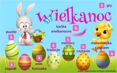 Wielkanoc by Aleksandra Schoen-Kamińska on Genial. The Incredibles, Puzzle, Make It Yourself, Education, Bring It On, Easter, Content, Puzzles, Easter Activities