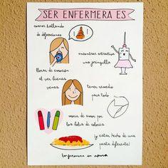 """Lámina """"Ser enfermera es"""" – Enfermera en apuros - Shop"""