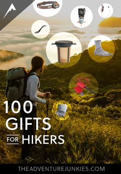 Best Gifts for Hikers - Hiking Tips For Beginners – Backpacking Tips and Tricks for Women and Men via The Adventure Junkies  | Outdoor Activities. Hiking, Scuba Diving And More