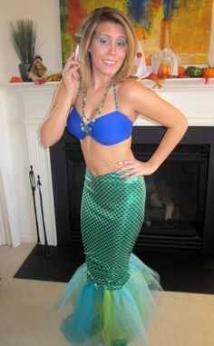 174 best mermaid costumes images on pinterest mermaids costume diy mermaid halloween costumelove the tull at the bottom tulle solutioingenieria Image collections